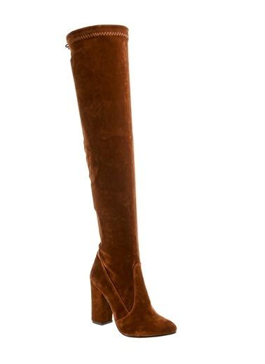 Bambi Topuklu Uzun Diz Üstü Çizme Taba